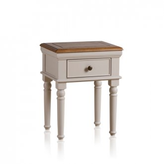 Shay Rustic Oak and Painted Lamp Table