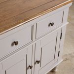 Shay Rustic Oak and Painted Large Dresser - Thumbnail 3