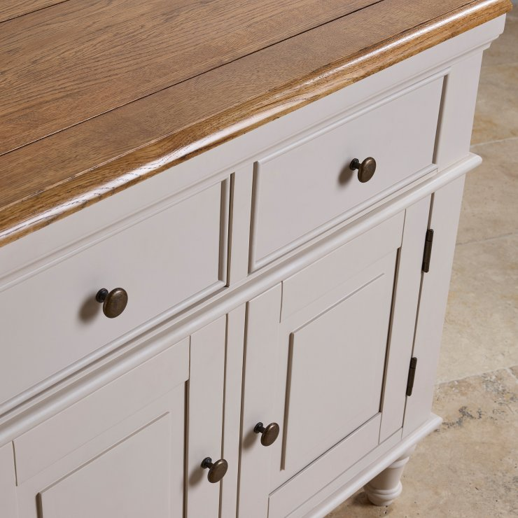 Shay Rustic Oak and Painted Large Dresser