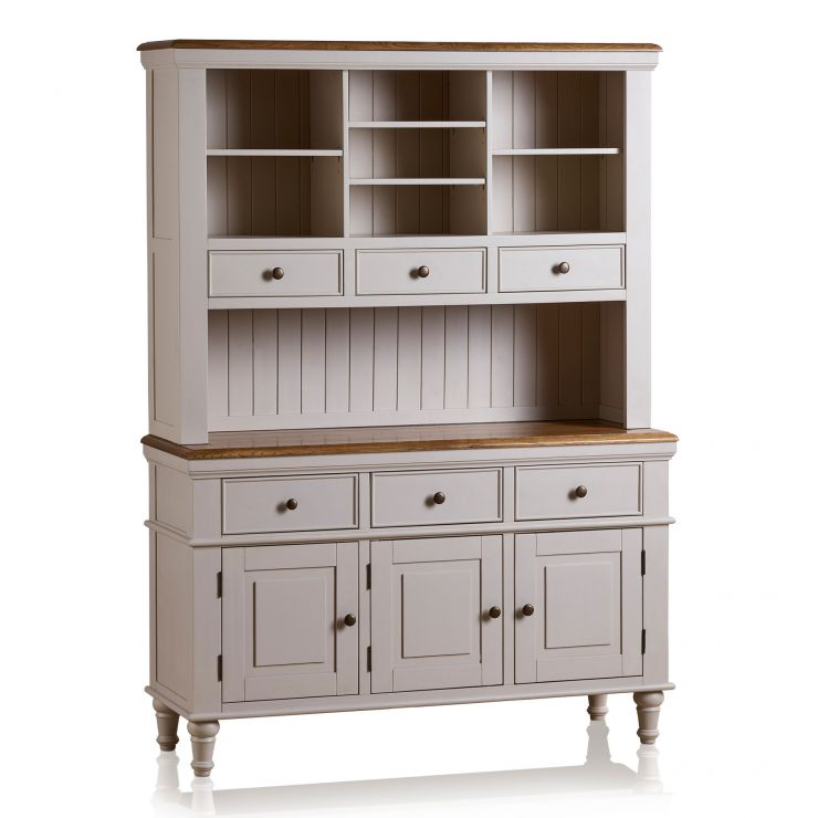 Shay Rustic Oak and Painted Large Dresser - Image 5