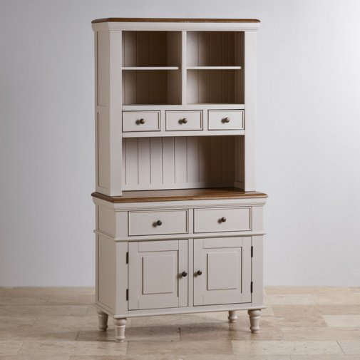 Shay Rustic Oak and Painted Small Dresser