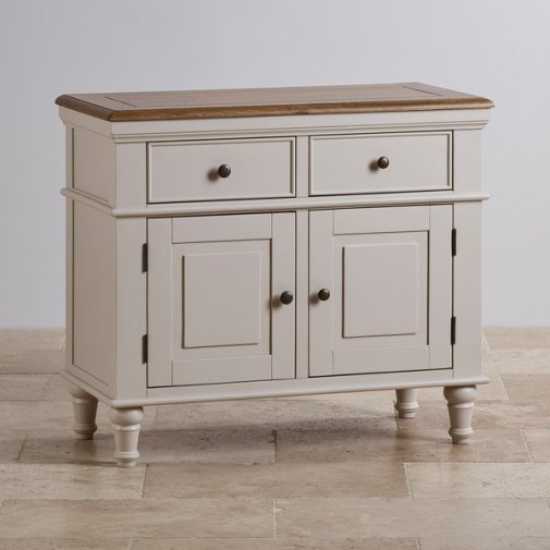 Shay Rustic Oak and Painted Small Sideboard