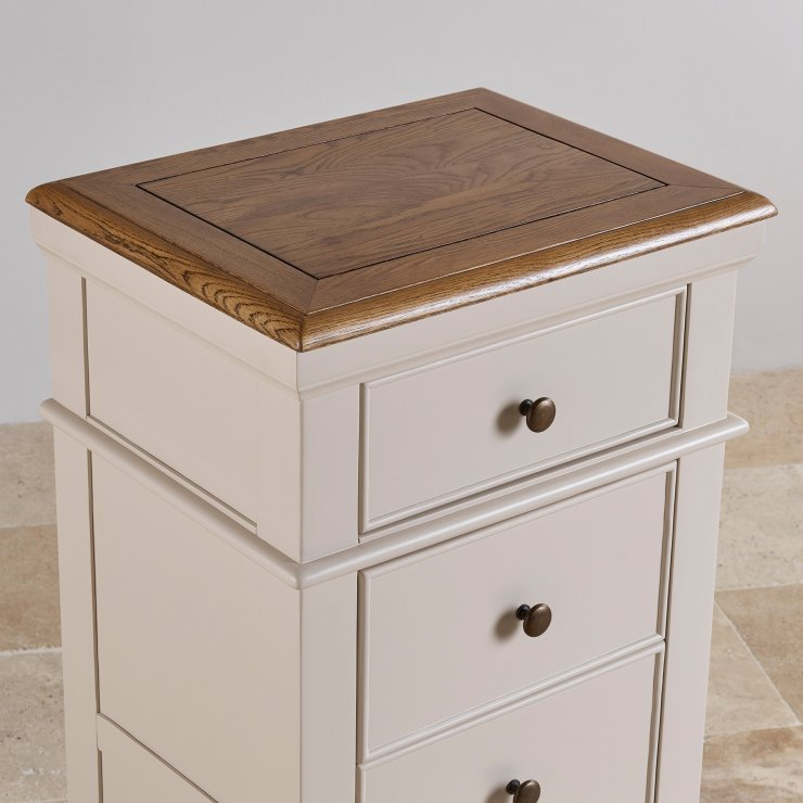 Shay Rustic Oak and Painted Tallboy