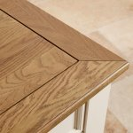 Shutter Brushed Oak and Painted 1 Drawer Bedside Table - Thumbnail 4