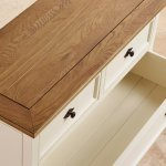 Shutter Brushed Oak and Painted 2+3 Chest of Drawers - Thumbnail 4