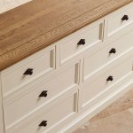 Shutter Brushed Oak and Painted 3+4 Chest of Drawers - Thumbnail 5