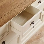 Shutter Brushed Oak and Painted 3+4 Chest of Drawers - Thumbnail 6