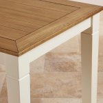 """Shutter Brushed Oak and Painted 5ft x 2ft 6"""" Dining Table - Thumbnail 7"""