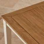 """Shutter Brushed Oak and Painted 5ft x 2ft 6"""" Dining Table - Thumbnail 8"""