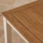 Shutter Brushed Oak and Painted 6ft Dining Table - Thumbnail 5
