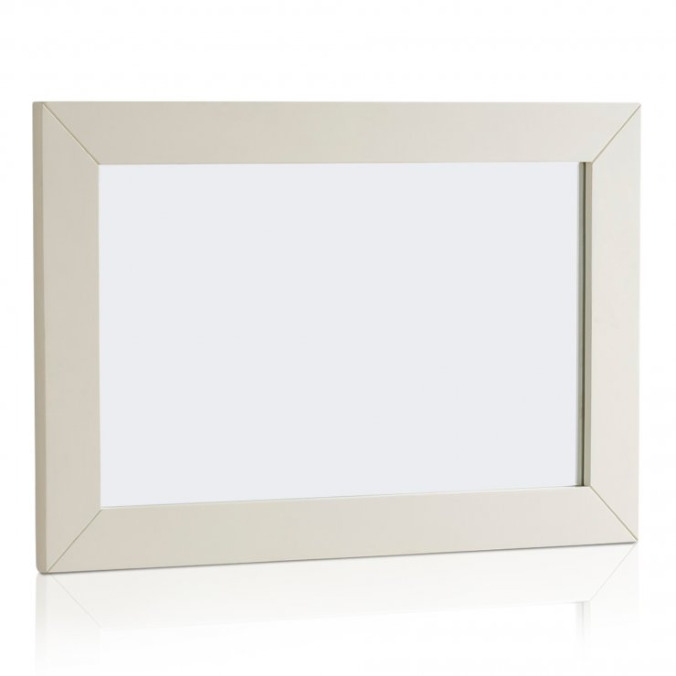 Shutter Brushed Oak and Painted 900mm x 600mm Wall Mirror - Image 3