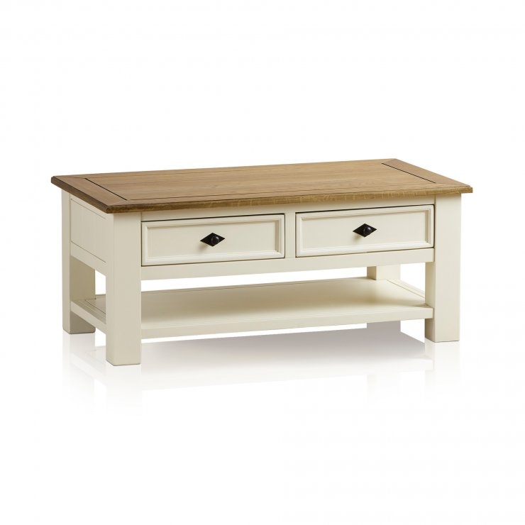Shutter Brushed Oak and Painted Coffee Table - Image 6