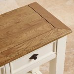 Shutter Brushed Oak and Painted Console Table - Thumbnail 7