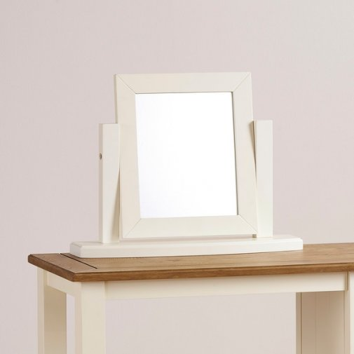 Shutter Brushed Oak and Painted Dressing Table Mirror
