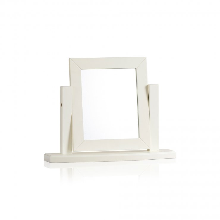 Shutter Brushed Oak and Painted Dressing Table Mirror - Image 3