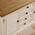 Shutter Brushed Oak and Painted Large Dresser - Thumbnail 6