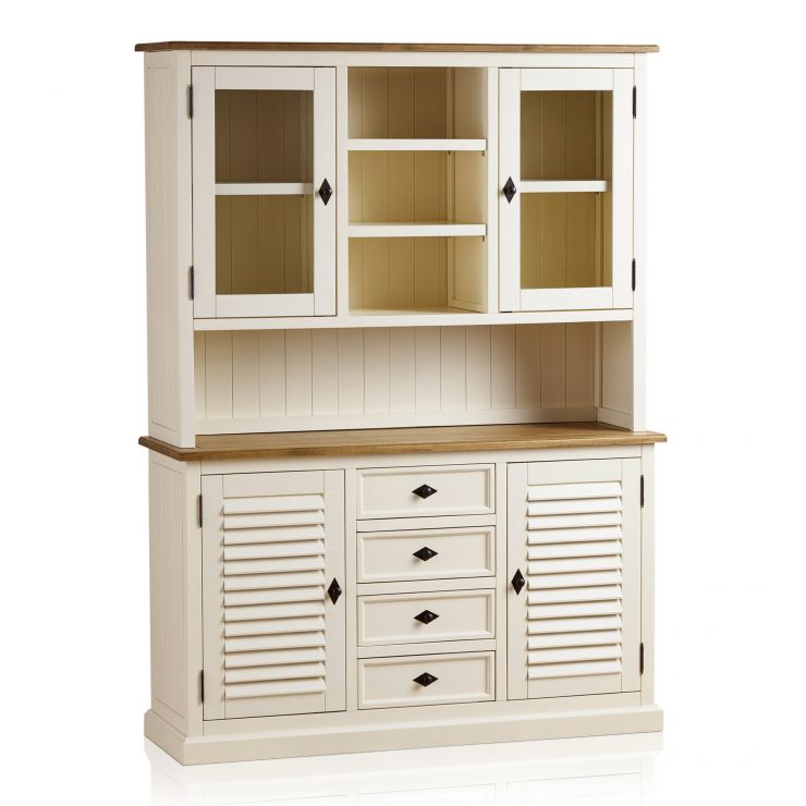 Shutter Brushed Oak and Painted Large Dresser - Image 7