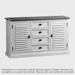 Shutter Brushed Oak and Painted Large Sideboard - Thumbnail 8