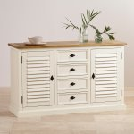 Shutter Brushed Oak and Painted Large Sideboard - Thumbnail 3