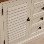 Shutter Brushed Oak and Painted Large Sideboard - Thumbnail 7