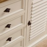 Shutter Brushed Oak and Painted Large Sideboard - Thumbnail 6