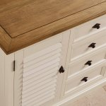 Shutter Brushed Oak and Painted Large Sideboard - Thumbnail 5