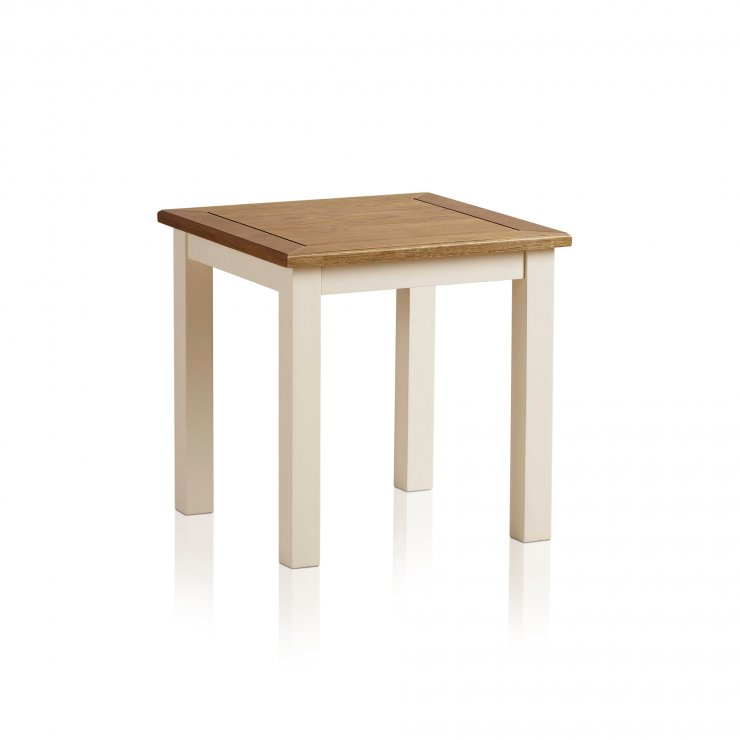Shutter Brushed Oak and Painted Side Table - Image 6