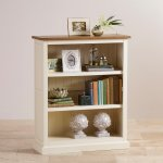 Shutter Brushed Oak and Painted Small Bookcase - Thumbnail 4