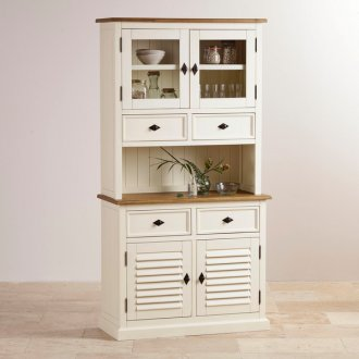Shutter Brushed Oak and Painted Small Dresser