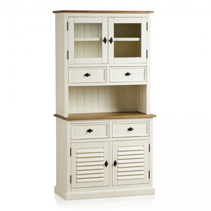 Shutter Brushed Oak and Painted Small Dresser - Image 3