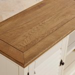 Shutter Brushed Oak and Painted Small TV Cabinet - Thumbnail 8