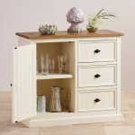 Shutter Brushed Oak and Painted Storage Cabinet - Thumbnail 4