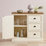 Shutter Brushed Oak and Painted Storage Cabinet - Thumbnail 6