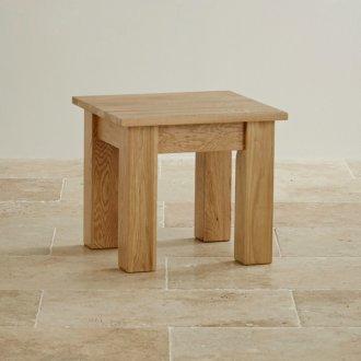 Natural Solid Oak Minimalist Side Table