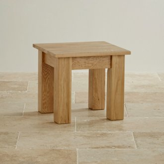 Natural Solid Oak Minimalist Side Table