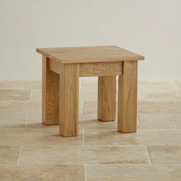 Natural Solid Oak Minimalist Side Table - Image 3