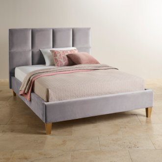 Somnus Chrome Fabric King-Size Bed
