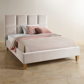 Somnus Oyster Fabric King-Size Bed