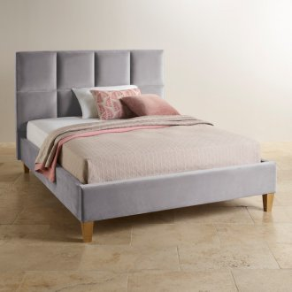Somnus Pebble Fabric King-Size Bed