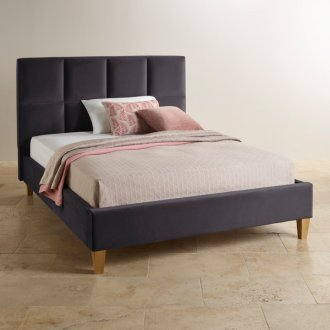 Somnus Slate Fabric King-Size Bed