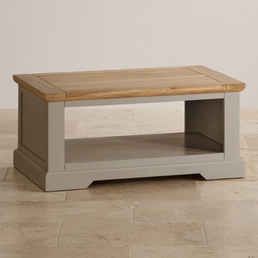 St Ives Natural Oak and Light Grey Painted Coffee Table