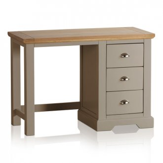 St Ives Natural Oak and Light Grey Painted Dressing Table