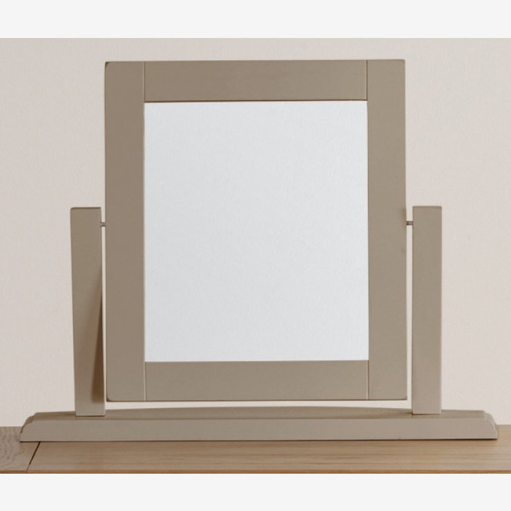 St Ives Natural Oak and Light Grey Painted Dressing Table Mirror