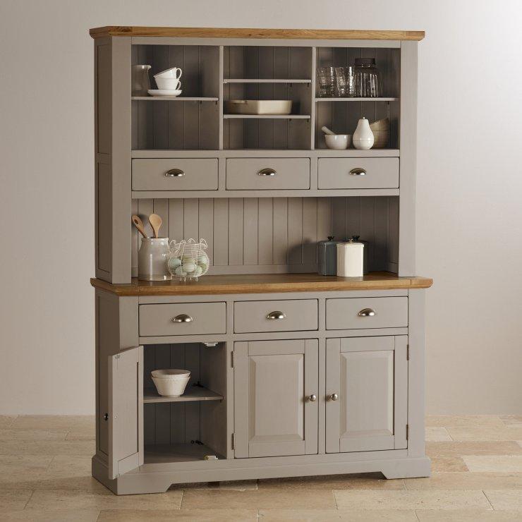 St Ives Natural Oak and Light Grey Painted Large Dresser