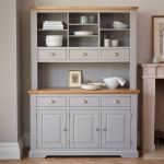St Ives Natural Oak and Light Grey Painted Large Dresser - Thumbnail 3