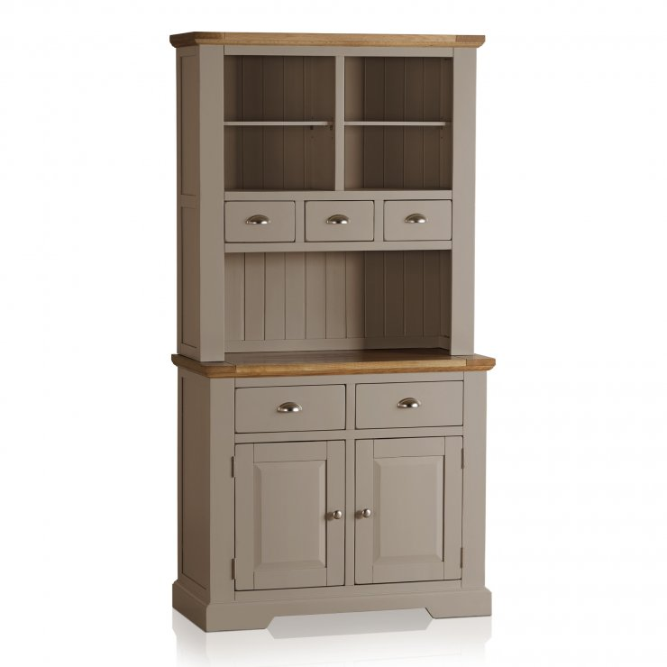 St Ives Natural Oak and Light Grey Painted Small Dresser - Image 4