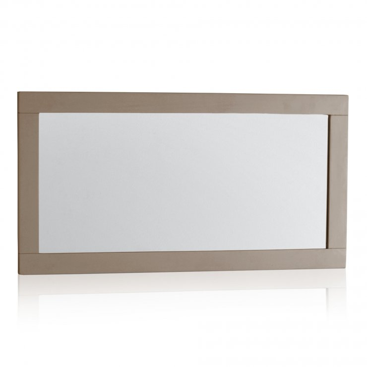 St Ives Natural Oak and Light Grey Painted Wall Mirror - Image 3