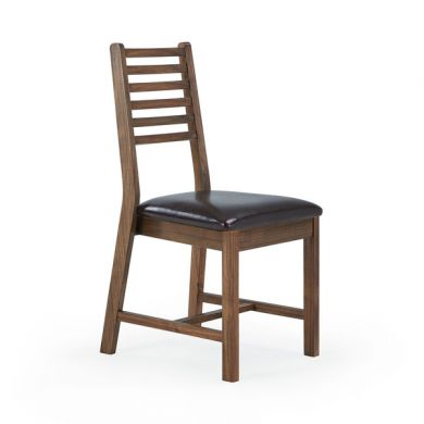Detroit Brown Leather Dining Chair