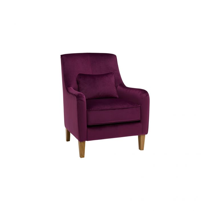 Sydney Accent Chair in Opulence Amethyst Velvet - Image 4