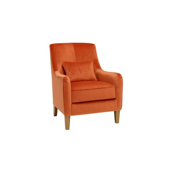 Sydney Accent Chair in Opulence Pumpkin Velvet